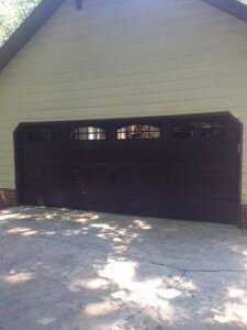 Brown Carriage Garage Door After