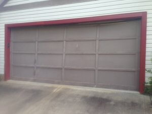 Old Garage Door Before