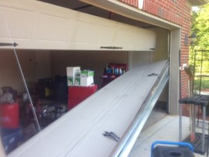 Broken Garage Door Before