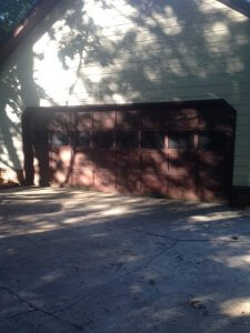 Brown Carriage Garage Door Before