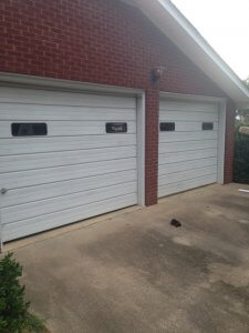 White Steel Garage Door Before