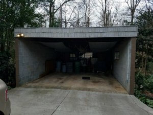 Carport Conversion Before