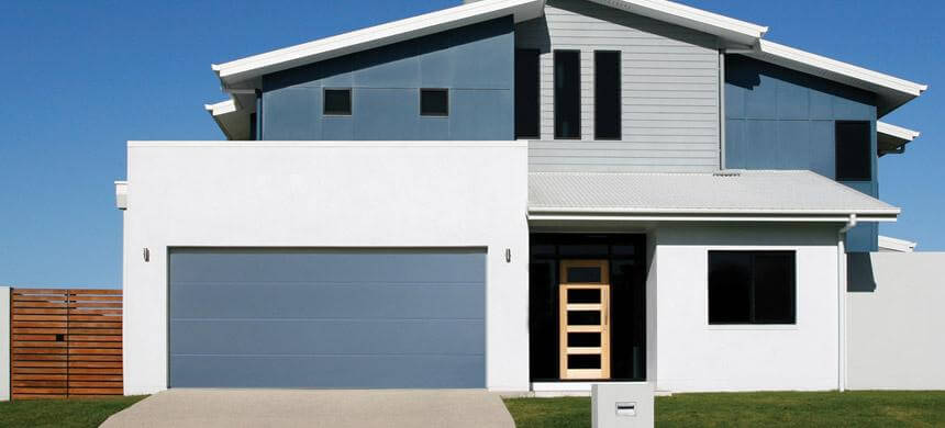 Thick Flush Panel Garage Doors