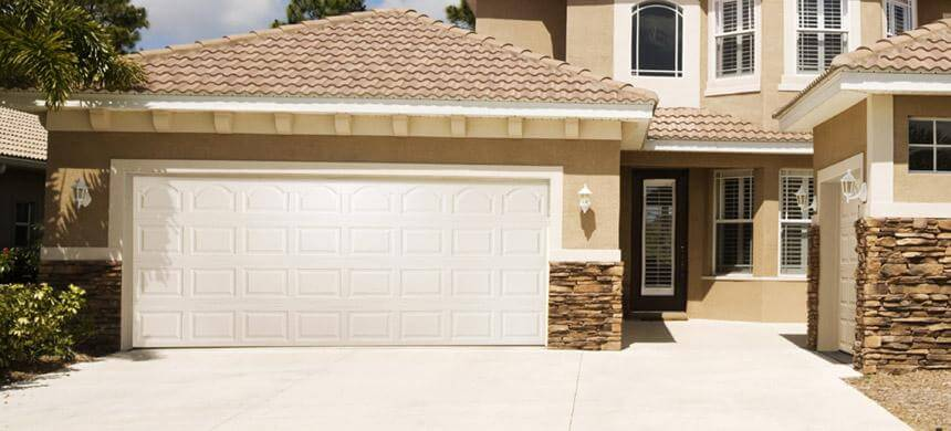 Arched Top Garage Door with Traditional Raised Panel